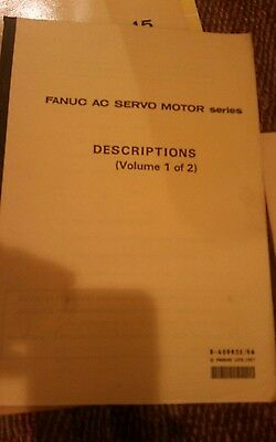 Fanuc Descriptions Manual AC Servo Motor Series Volumes 1 & 2 B-65002E-06