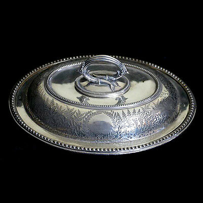 Vintage large heavy quality silver plate EPNS decorated tureen