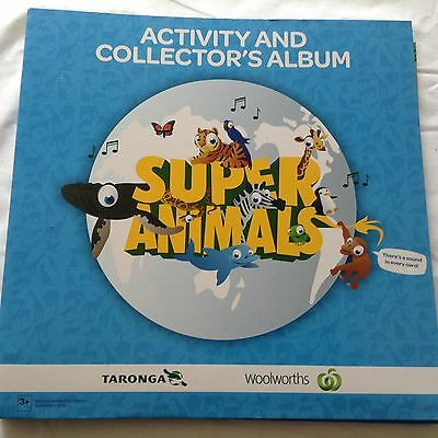 Woolworths Super Animals Collectors Album + Full Set Cards
