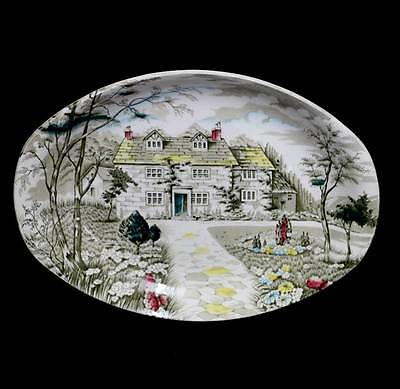 Vintage Royal Anchor Country Cottage pretty oval serving platter