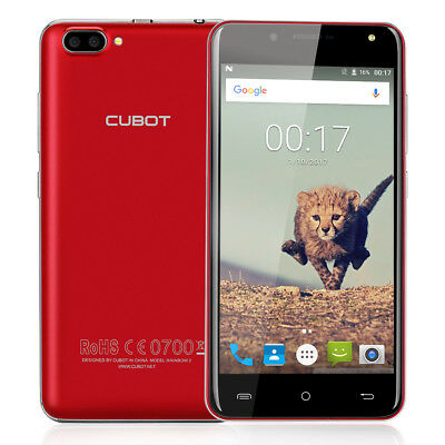 """5,0"""" Rosso CUBOT Rainbow 2 Cellulare Android7.0 16GB 13MP 3G Smartphone Dual SIM"""