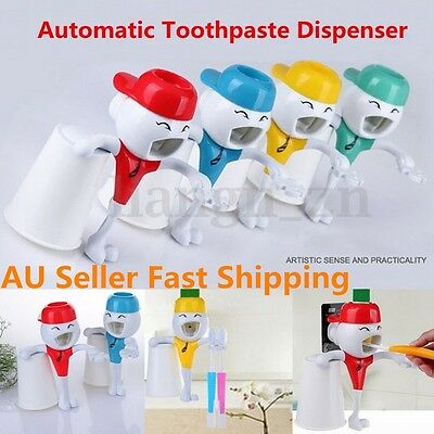 3 In 1 Automatic Suction Toothpaste Dispenser Bathroom Toothbrush Holder Cup Set