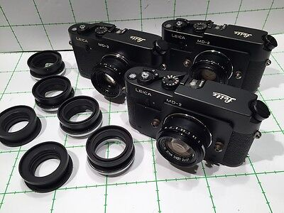 LEITZ LEICA SET OF 3 MD-2 POST WITH 2/35mm FIXED SUMMICRON LENS -  ULTRA RARE -