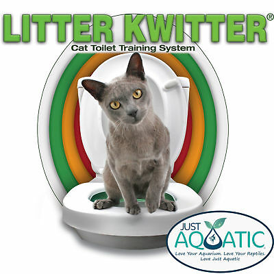Genuine Litter Kwitter Cat Toilet Training System Litter Tray Seat Kitten Pet