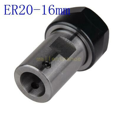 Motor Shaft ER20 Collet Chuck 16mm Extension Rod Support Tool Holder Milling CNC