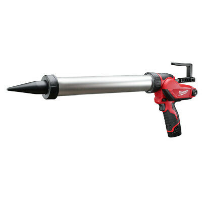 Milwaukee 2442-21 M12 Li-Ion 20 oz. Aluminum Barrel Caulk & Adhesive Gun Kit New