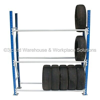 USED Tyre & Wheel Racking / Storage Shelving Bays In Very Good Condition