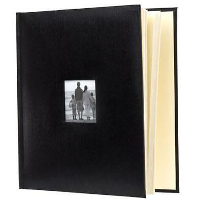 Flashpoint Photo Album,Leatherette,Holds 500 4x6, Black #638280