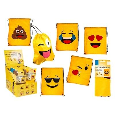 Emoji Turnbeutel Fashion Beutel Emoticon Smileys gelb Beutel Sport Tasche Smiley
