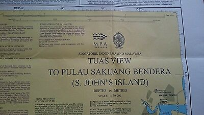 4040 Singapore Sentosa Island  Nautical Chart Map Navigation Rare Collectables