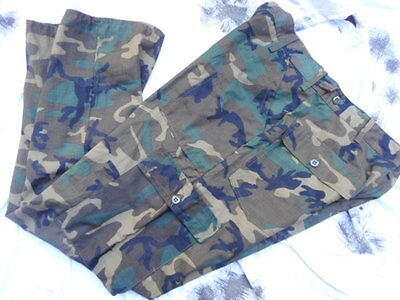 US ARMY ERDL BROWN vietnam CAMO utility COMBAT TROUSERS RIPSTOP new M 34""