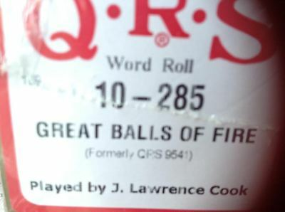 Great Balls Of Fire   Brand New Pianola Player Piano  Roll
