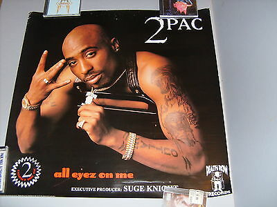 2Pac Tupac 1996 Promo Poster For Record Store Display Death Row Records Original