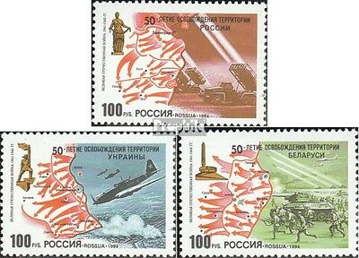 Russia 380-382 unmounted mint / never hinged 1994 Liberation russia