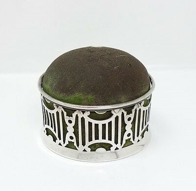 Antique Black Starr Frost Sterling Silver Sewing Pin Cushion Box for Restoration