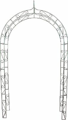 G2408: Nostalgia Rose archway Blacky, Retro Roses Trellis From Metal, Pergola