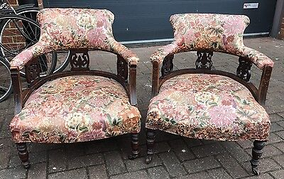 A Pair Of Edwardian Armchairs. Open To Offers.