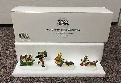 Dept 56 Heritage Village A New Batch of Christmas Friends #56175 Puppies