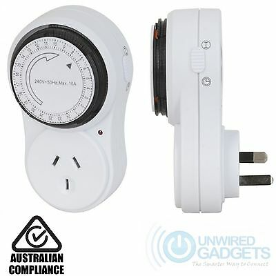 NEW Slimline Mechanical Timer A-N Switch 24 Hour