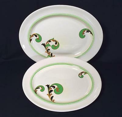 Royal Doulton Art Deco Pottery Large Platters Lynn Pattern, C.1930