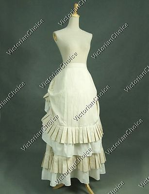 Gothic Victorian Edwardian Bustle Pleat Steampunk Westworld Theater Skirt K034