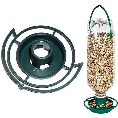 HANGING SODA BOTTLE BIRD FEEDER KIT Wild Top Pop Seed Platform Catcher Garden