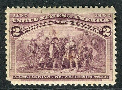 USA;  1893 early classic Columbus issue 2c. Mint hinged