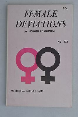 Female Deviations An Analysis Of Lesbianism Edward Rowe 1967 Vintage Adult  Book