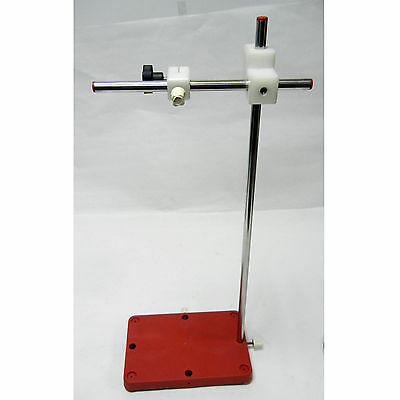 """HEAVY DUTY RING STAND - 9""""x6"""" BASE, 22"""" MAX HEIGHT, 9.5"""" ARM LENGTH, ADJ CLAMPS"""
