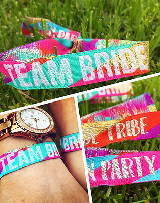 Team Bride Wristbands - Bride Tribe - Hen Do Party Favours & accessories