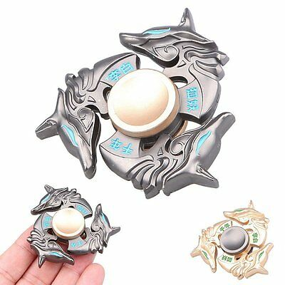 NEW Alloy Hand Spinner Tri Fidget Focus Toy EDC Finger Spin Gyro ADHD Autism