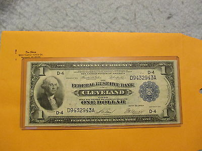 1914 $1 Federal Reserve Bank Cleveland,ohio