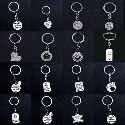 Sister Paws Matter Pet Love Dad Mom Keyring Keychain Charm Jewelry Girl Gifts