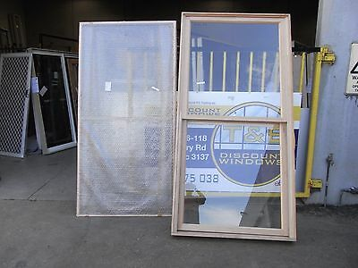 Timber Double Hung Window 2410H x 1210W (Item 2869/showroom)