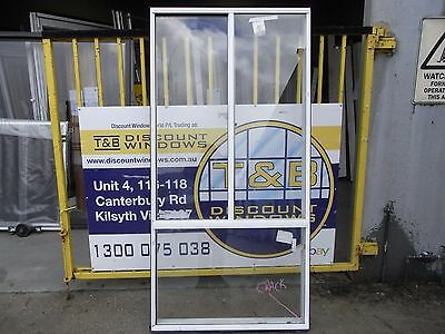 Aluminium Sliding Window 2060H x 1010W (Item 2872/6) Pearl white