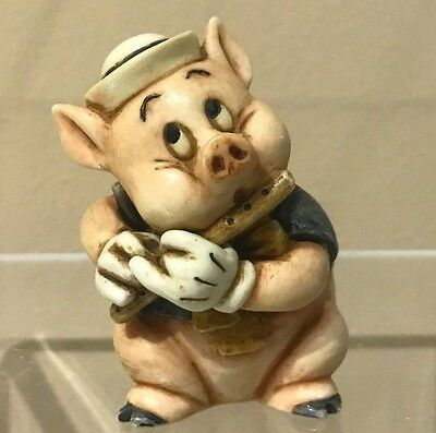 Disney Harmony Kingdom Figurine New Fifer Pig Three Little Pigs LTD ED