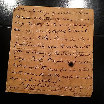 RUTHERFORD B HAYES * autograph CIVIL WAR ABRAHAM LINCOLN Content * Letter SIGNED