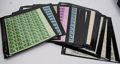 50 Different Full Stamp Sheets Scott #952-1559 U.s. Stamps Dated 1940S-1975