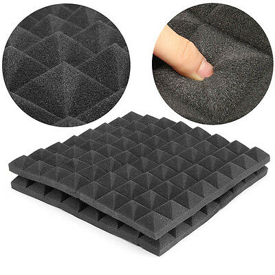 Pyramid Shape Acoustic Panel Sound Absorption Sound proof Foam Tiles 50*50*5 cm