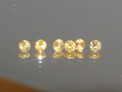 Citrine, 3mm round Natural Golden Yellow Citrine gemstones,earring pairs, 2 only