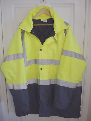 Men's Day & Night Reflective Safety Work Jacket 5XL 'Like New' Condition 'UBEWT'