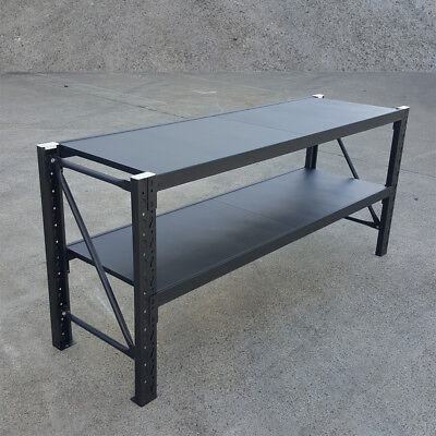 Steel Warehouse Workbench Shelving Racking Stand Shelf Work Benches -Matte Black