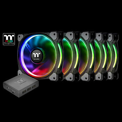 Thermaltake CL-F054-PL12SW-A Riing Plus 12 LED RGB TT Premium (5 Fan Pack)