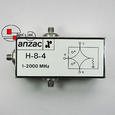 1×USED M/A-COM Anzac H-8-4 1-2000MHz SMA 2-Way Broadband Power Divider Splitter