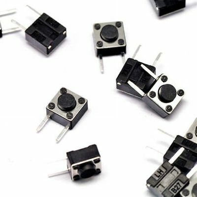 50PCS 6×6×8mm Tact Tactile Push Button Switch Horizontal-2Pin NEW