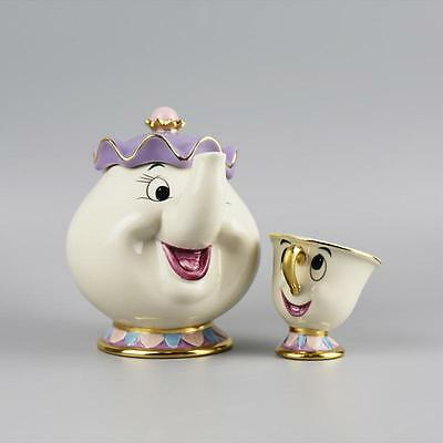 Movie Beauty And The Beast Teapot Mug Mrs. Potts Chip Tea Pot and Cup Set Gift