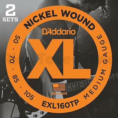 D'Addario EXL160 Bass Guitar Strings Twin Pack 50-105