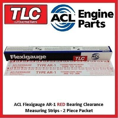 """Flexigauge Plastigauge AR-1 RED Bearing Clearance Check Strips .002""""-.006"""" x 2"""