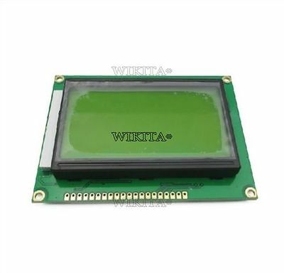 2Pcs St7920 5V 12864 128X64 Dots Graphic Lcd Yellow Green Backlight New Ic T