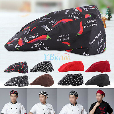 Fashion Men Women Chef Hat Kitchen Cook Catering Baker Duckbill Beret Golf Caps